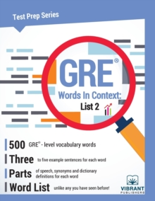 GRE Words in Context -- List 2, Paperback Book