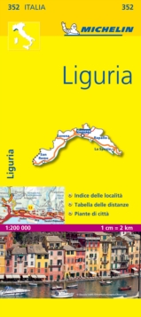 Liguria - Michelin Local Map 352 : Map, Sheet map Book
