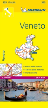 Veneto - Michelin Local Map 355 : Map, Sheet map Book