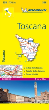 Toscana - Michelin Local Map 358, Sheet map, folded Book