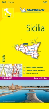 Sicily - Michelin Local Map 365 : Map, Sheet map Book