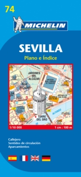Map 9074 Sevilla, Sheet map, folded Book