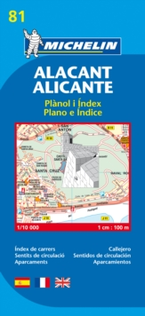 Alicante - Michelin City Plan 81 : City Plans, Sheet map Book