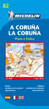 La Coruna City Plan, Sheet map, folded Book