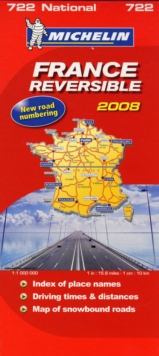 France Reversible (recto-verso) 2008, Sheet map, folded Book