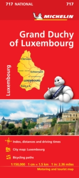 Grand Duchy of Luxembourg National Map 717, Sheet map, folded Book