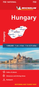 Hungary - Michelin National Map 732 : Map, Sheet map Book