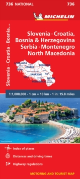 Slovenia, Croatia, Bosnia - Michelin National Map 736 : Map, Sheet map Book