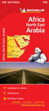 Africa North East, Arabia - Michelin National Map 745 : Map, Sheet map Book