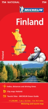 Finland - Michelin National Map 754 : Map, Sheet map Book