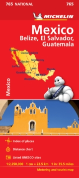 Mexico Map, Sheet map, folded Book