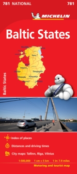Baltic States - Michelin National Map 781 : Map, Sheet map Book