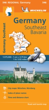 Germany Southeast, Bavaria - Michelin Regional Map 546 : Map, Sheet map Book