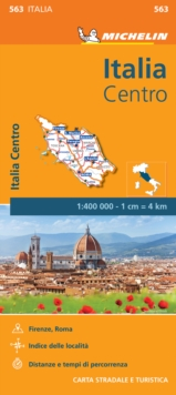 Italy Centre - Michelin Regional Map 563 : Map, Sheet map Book
