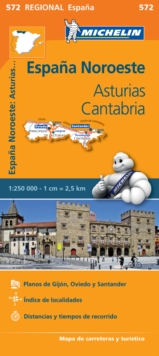 Asturias Cantabria - Michelin Regional Map 572 : Map, Sheet map Book