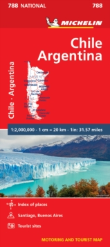 Chile Argentina - Michelin National Map 788 : Map, Sheet map Book