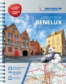 Benelux and North of France A4 Spiral Atlas, Spiral bound Book