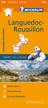 Languedoc-Roussillon - Michelin Regional Map 526 : Map, Sheet map Book