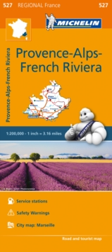 Provence- Alps - French Riviera - Michelin Regional Map 527 : Map, Sheet map Book