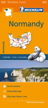Normandy - Michelin Regional Map 513 : Map, Sheet map Book