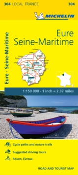 Eure, Seine-Maritime - Michelin Local Map 304 : Map, Sheet map Book