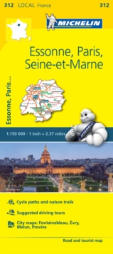 Essonne, Paris, Seine-et-Marne - Michelin Local Map 312 : Map, Sheet map Book