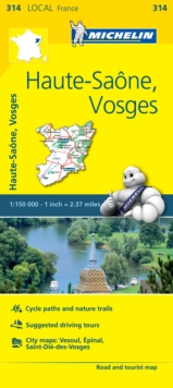 Haute-Saone, Vosges - Michelin Local Map 314 : Map, Sheet map Book