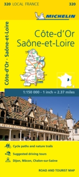 Cote-D'or, Saone-et-Loire, France Local Map 320, Sheet map, folded Book