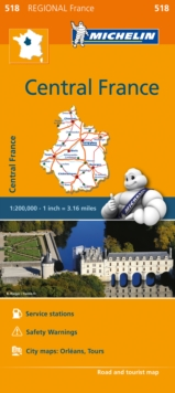 Centre Map 518 : Michelin Regional Maps: France, Sheet map, folded Book