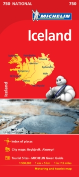 Iceland - Michelin National Map 750 : Map, Sheet map Book