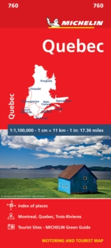Quebec - Michelin National Map 760 : Map, Sheet map Book