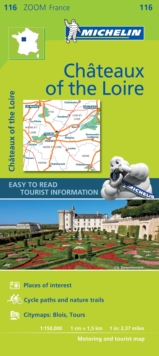 Chateaux of the Loire - Zoom Map 116 : Map, Sheet map Book