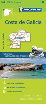 Costa de Galicia Zoom Map 141, Sheet map, folded Book