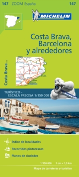 Barcelona y Alrededores Costa Brava - Zoom Map 147 : Map, Sheet map Book