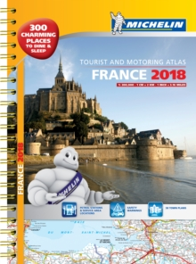 France 2018 Tourist & Motoring atlas A3-Spiral, Spiral bound Book
