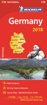 Germany 2018 National Map 718, Sheet map, folded Book