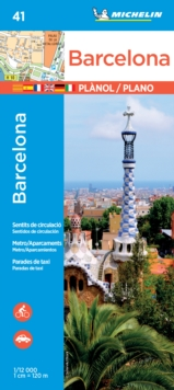 Michelin Barcelona Map No. 41, Paperback Book