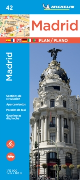 Michelin Madrid Map 42, Paperback Book