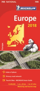 Europe 2018 National Map 705, Sheet map, folded Book