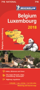 Belgium & Luxembourg 2018 National Map 716, Sheet map, folded Book