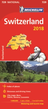 Switzerland 2018 National Map 729, Sheet map, folded Book