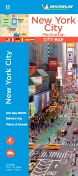 Michelin New York City Manhattan Map 11, Paperback Book