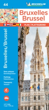 Michelin Brussels Map 44, Paperback Book