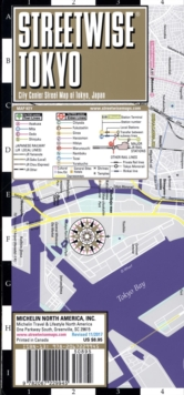 Streetwise Tokyo Map - Laminated City Center Street Map of Tokyo, Japan : City Plans, Sheet map Book