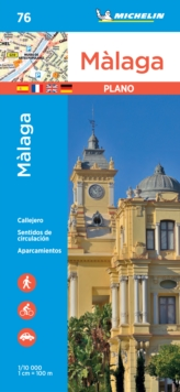 Malaga - Michelin City Plan 76 : City Plans, Sheet map Book