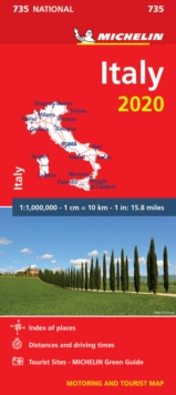 Italy 2020 - Michelin National Map 735 : Map, Sheet map Book