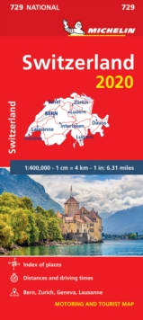 Switzerland 2020 - Michelin National Map 729 : Map, Sheet map Book
