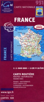 951 : France Roads & Motorways 2005 Double - Sided, Sheet map, folded Book