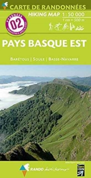 Pays Basque East - Baretous - Soule-Basse Navarre 2 : RANDO.02, Sheet map, folded Book