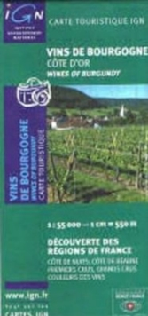 Wines of Burgundy - Cote d'Or reg F, Sheet map, folded Book